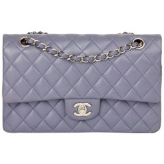 2011 Chanel Lilac Quilted Lambskin Medium Classic Double Flap Bag