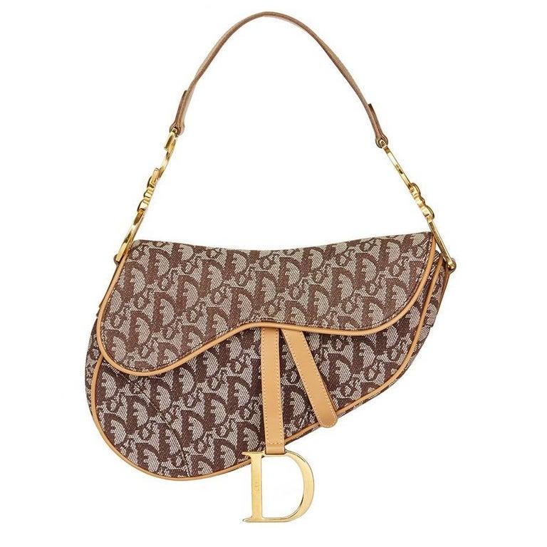 2011 Christian Dior Brown Monogram Canvas Saddle Bag at 1stdibs 2b65efca25571