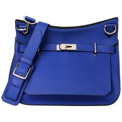 2011 Hermès Blue Electric Clemence Leather Jypsiere 34