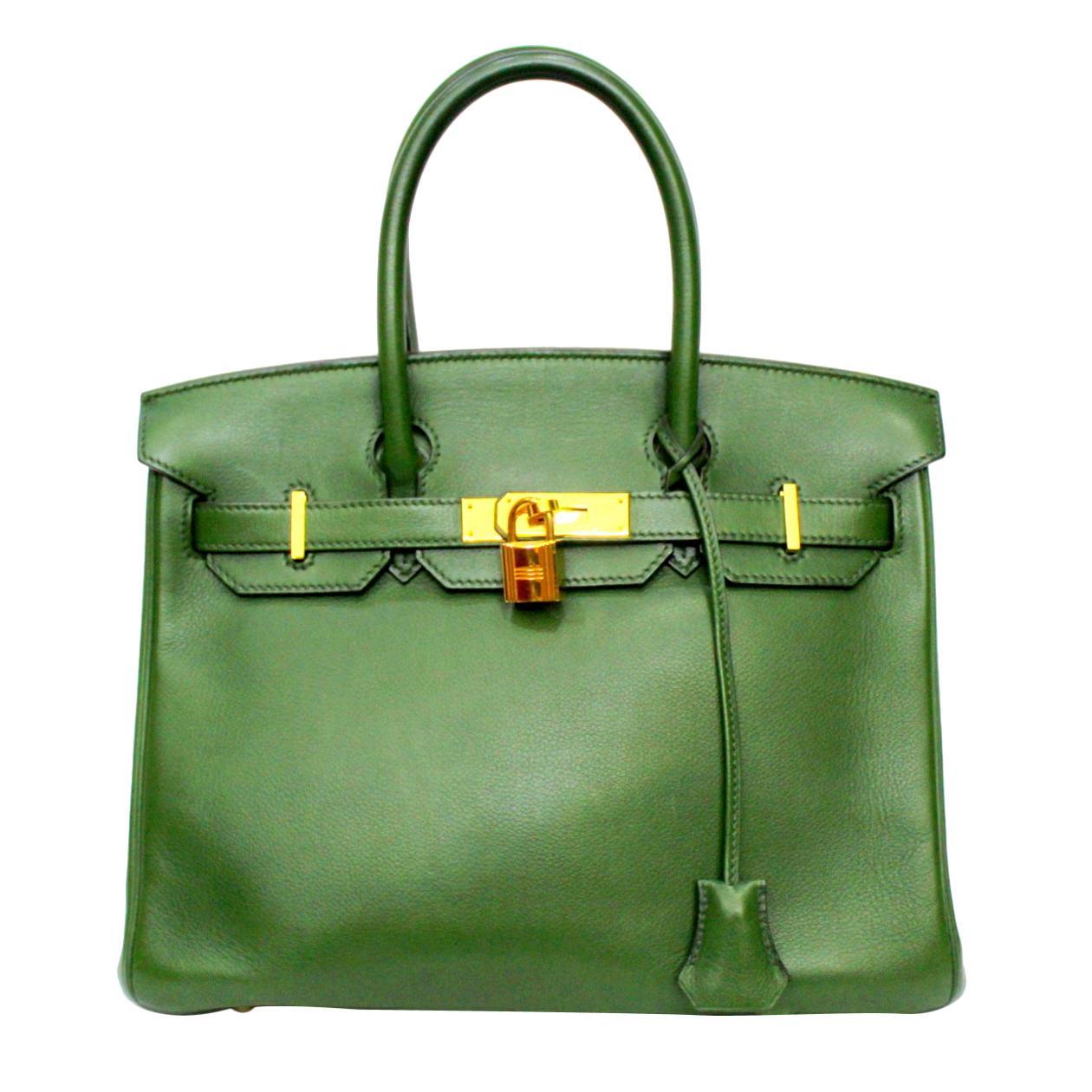 2011 Hermès Forest Green Leather Birkin 30 Bag