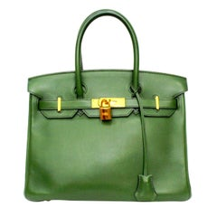 2011 Hermès Forest Green Leather Birkin 30 Bag
