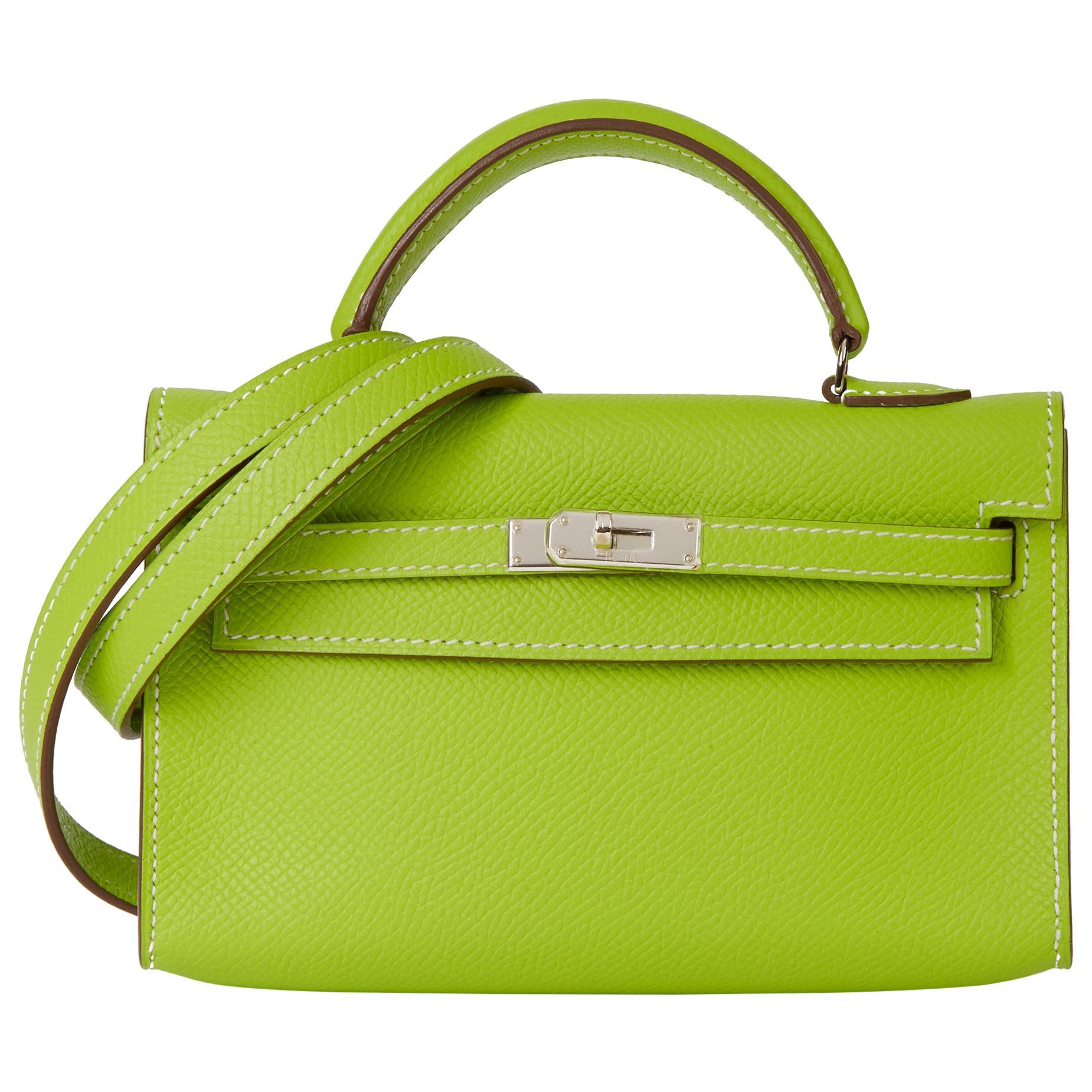 2011 Hermès Kiwi Epsom Leather Candy Collection Kelly Tiny