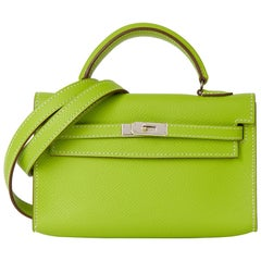 2011 Hermès Kiwi Epsom Leather Candy Collection Kelly Tiny