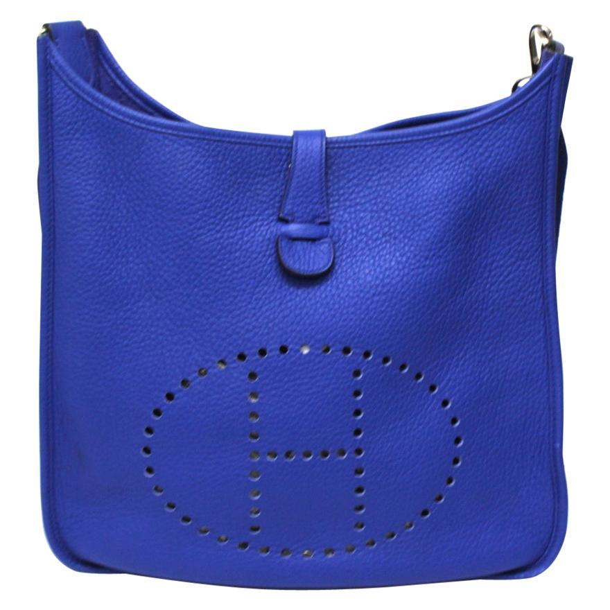 2011 Hermès Leather Blue Evelyne Bag