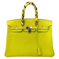 2011 Hermès Lemon Epsom Birkin 35 Bag