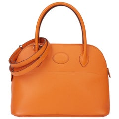 2011 Hermès Orange H Epsom Leather Bolide 27cm