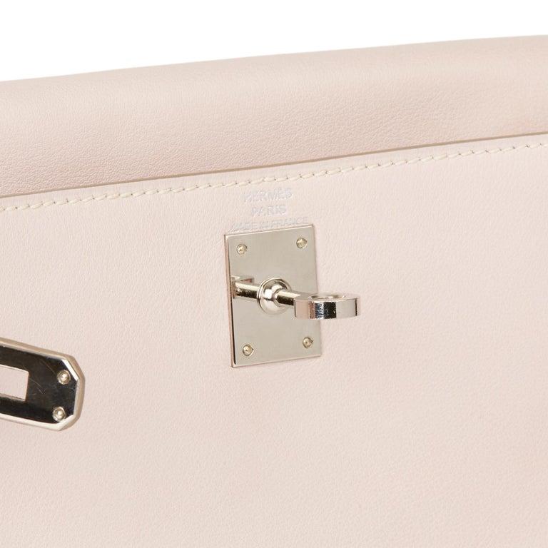2011 Hermes Rose Dragee Swift Leather Kelly Danse For Sale 3