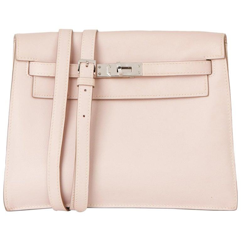 2011 Hermes Rose Dragee Swift Leather Kelly Danse For Sale