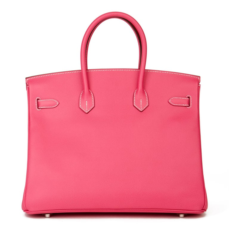 Women's 2011 Hermès  Rose Tyrien & Rubis Epsom Leather Candy Collection Birkin 35cm For Sale