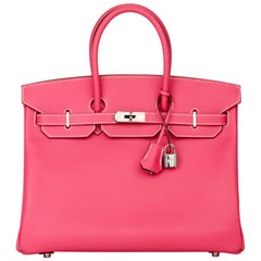 2011 Hermès  Rose Tyrien & Rubis Epsom Leather Candy Collection Birkin 35cm
