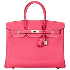 2011 Hermès  Rose Tyrien & Rubis Epsom Leather Candy Collection Birkin 35cm