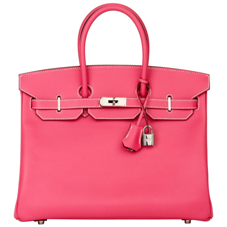 2011 Hermès  Rose Tyrien & Rubis Epsom Leather Candy Collection Birkin 35cm For Sale