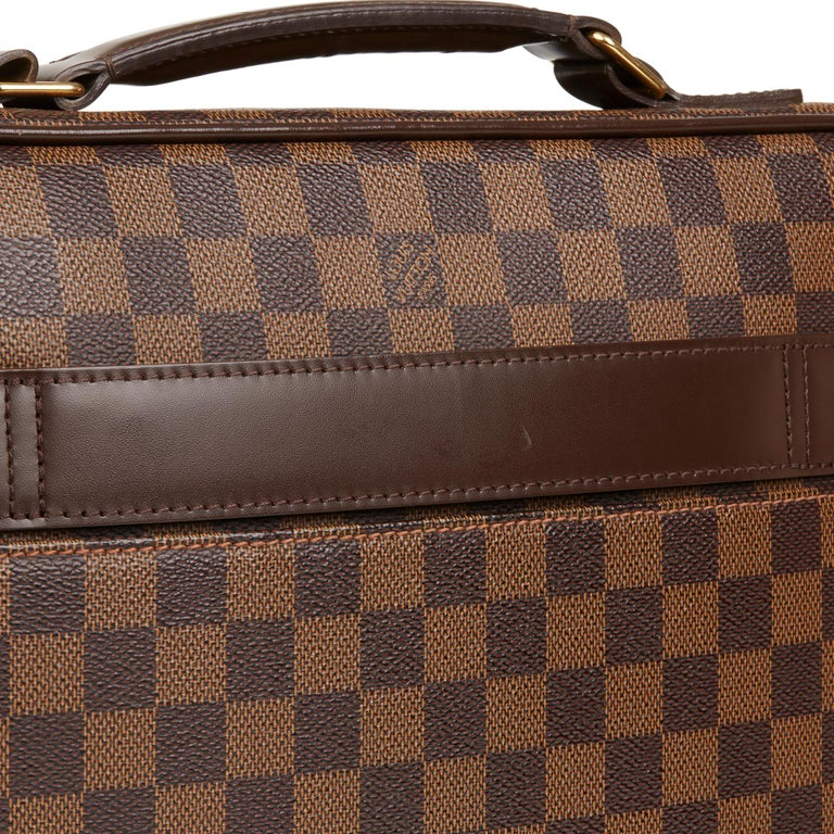 2011 Louis Vuitton Brown Damier Ebene Coated Canvas Sabana Computer Case  For Sale 3 366da5b4306ef