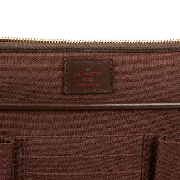 2011 Louis Vuitton Brown Damier Ebene Coated Canvas Sabana Computer Case  For Sale 5 eea2e41ea81f5