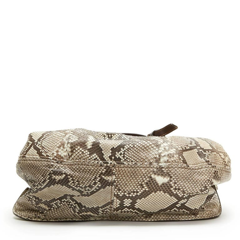 2011 Mui Mui Python Leather Aviator Hobo Bag In Good Condition For Sale In Bishop's Stortford, Hertfordshire