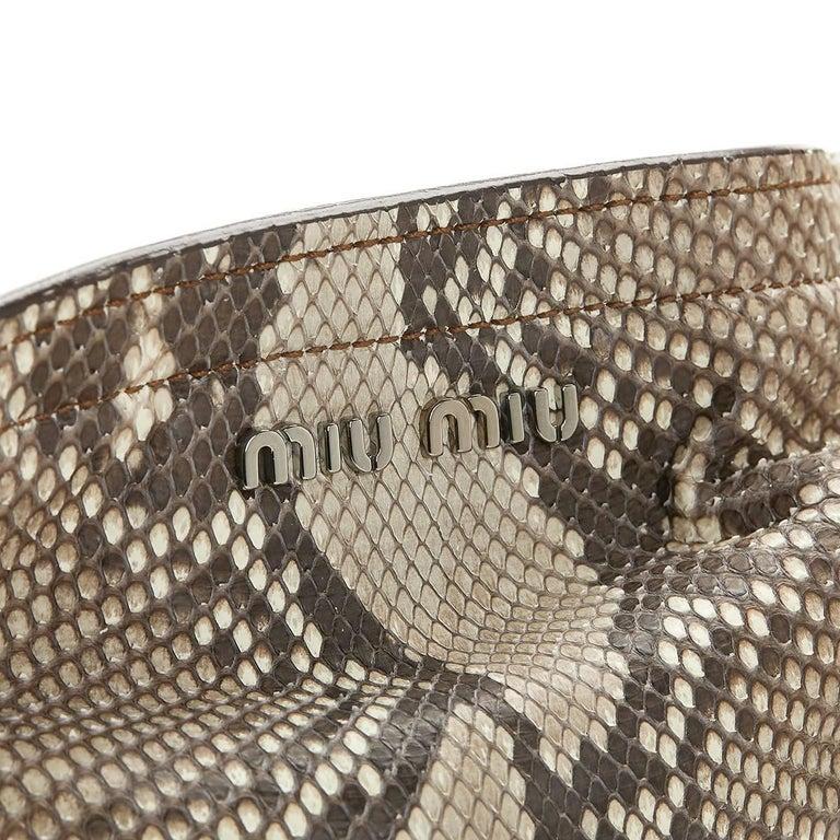 Women's 2011 Mui Mui Python Leather Aviator Hobo Bag For Sale