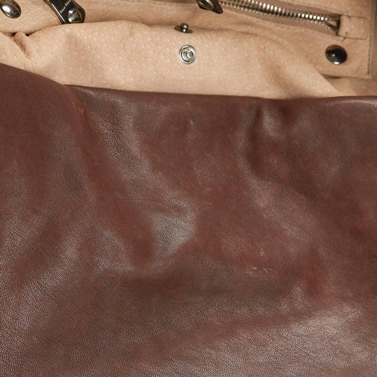 2011 Mui Mui Python Leather Aviator Hobo Bag For Sale 4