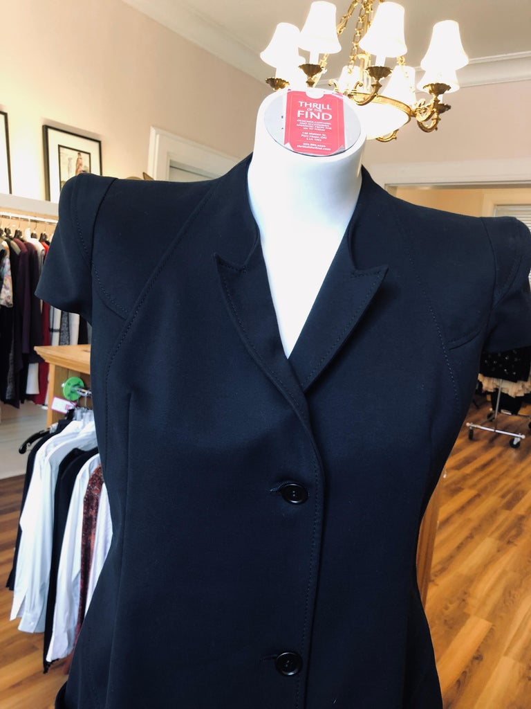 2011P Givenchy Black Cotton Shirt Dress (42 Itl) In Excellent Condition For Sale In Port Hope, ON