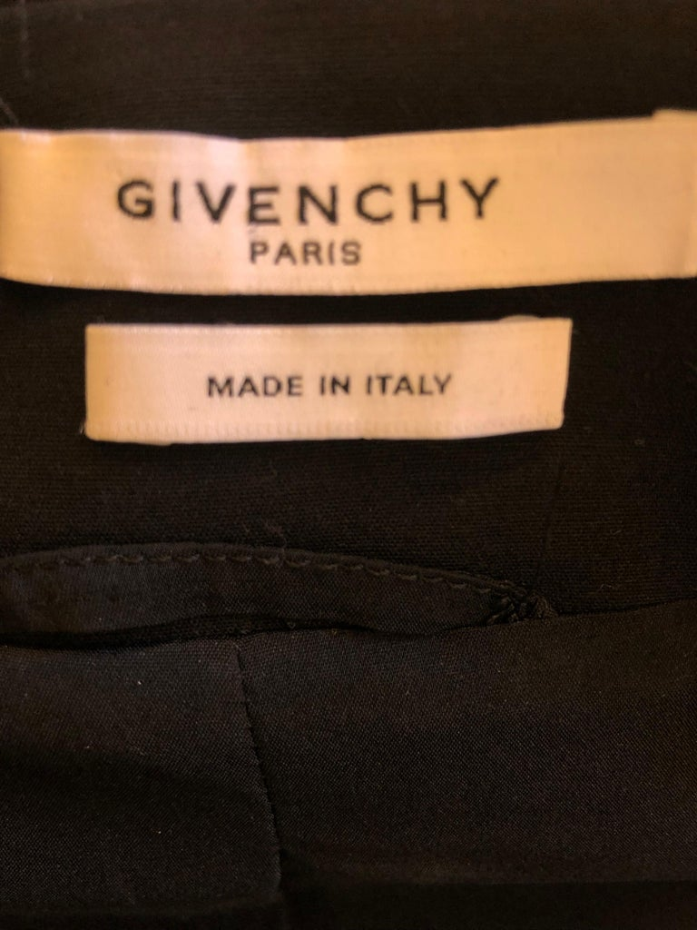 2011P Givenchy Black Cotton Shirt Dress (42 Itl) For Sale 5