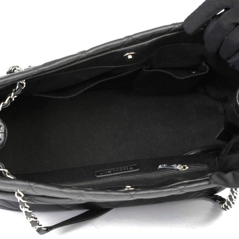 2012 Chanel Black Quilted Caviar Leather Timeless Shoulder Bag  For Sale 7