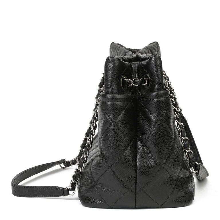 2012 Chanel Black Quilted Caviar Leather Timeless Shoulder Bag  In Excellent Condition For Sale In Bishop's Stortford, Hertfordshire