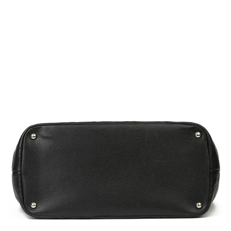 2012 Chanel Black Quilted Caviar Leather Timeless Shoulder Bag  For Sale 2