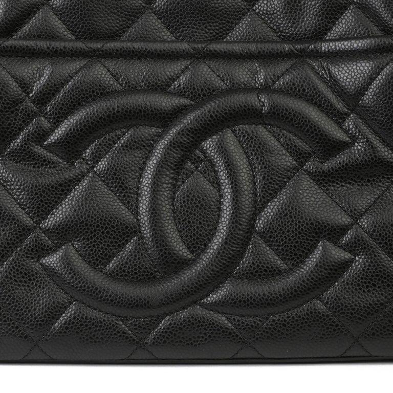 2012 Chanel Black Quilted Caviar Leather Timeless Shoulder Bag  For Sale 3