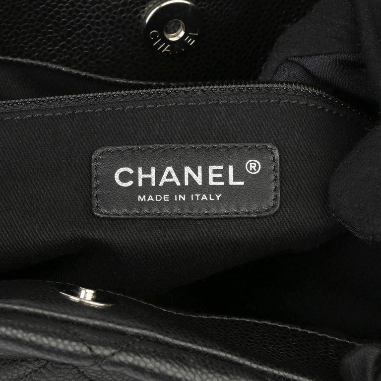 2012 Chanel Black Quilted Caviar Leather Timeless Shoulder Bag  For Sale 5