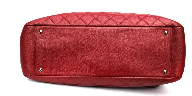 Women's 2012 Chanel Red Leather GST Bag For Sale