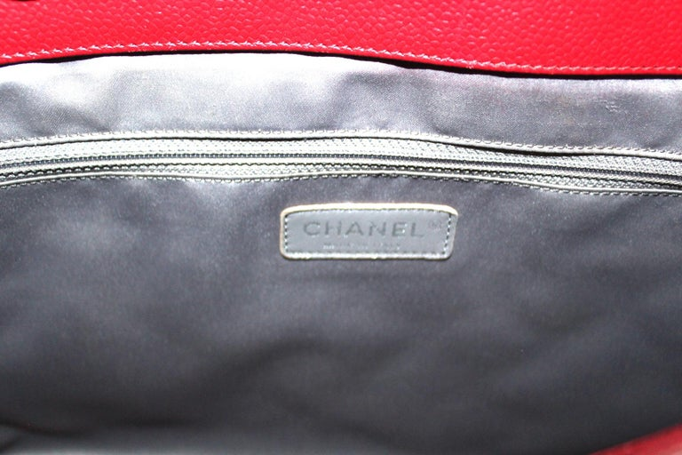 2012 Chanel Red Leather GST Bag For Sale 1