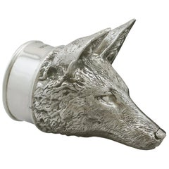 2012 Contemporary Sterling Silver Fox Stirrup Cup