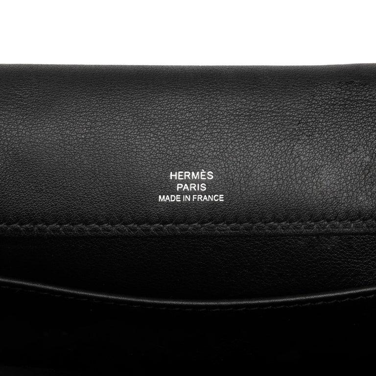2012 Hermès Black Swift Leather Kelly Danse For Sale 6