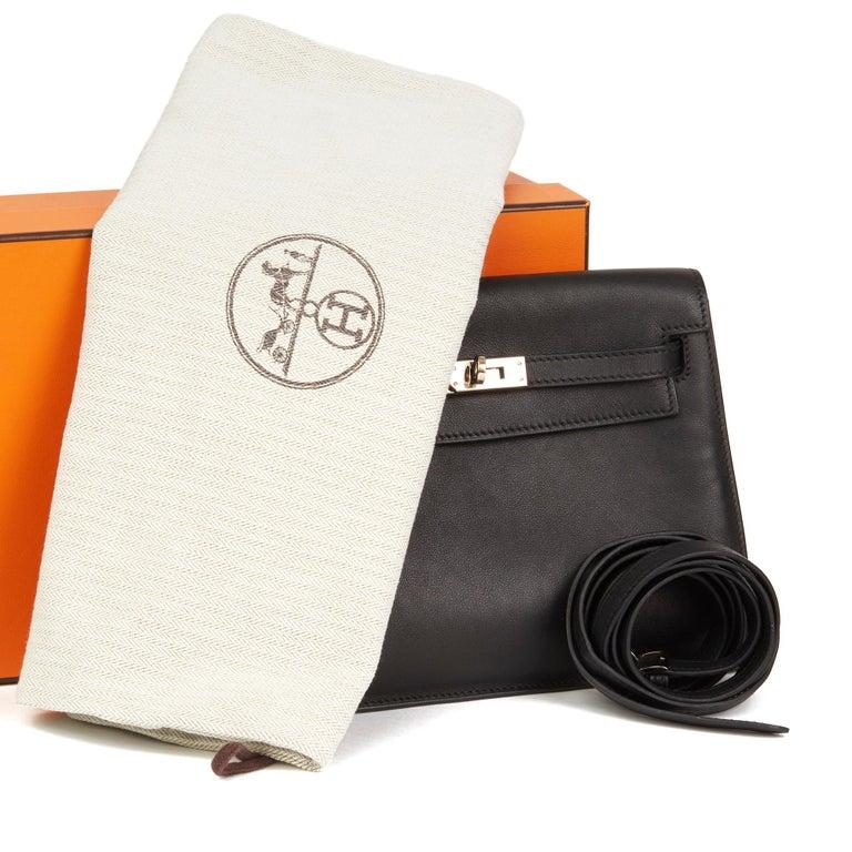 2012 Hermès Black Swift Leather Kelly Danse For Sale 9