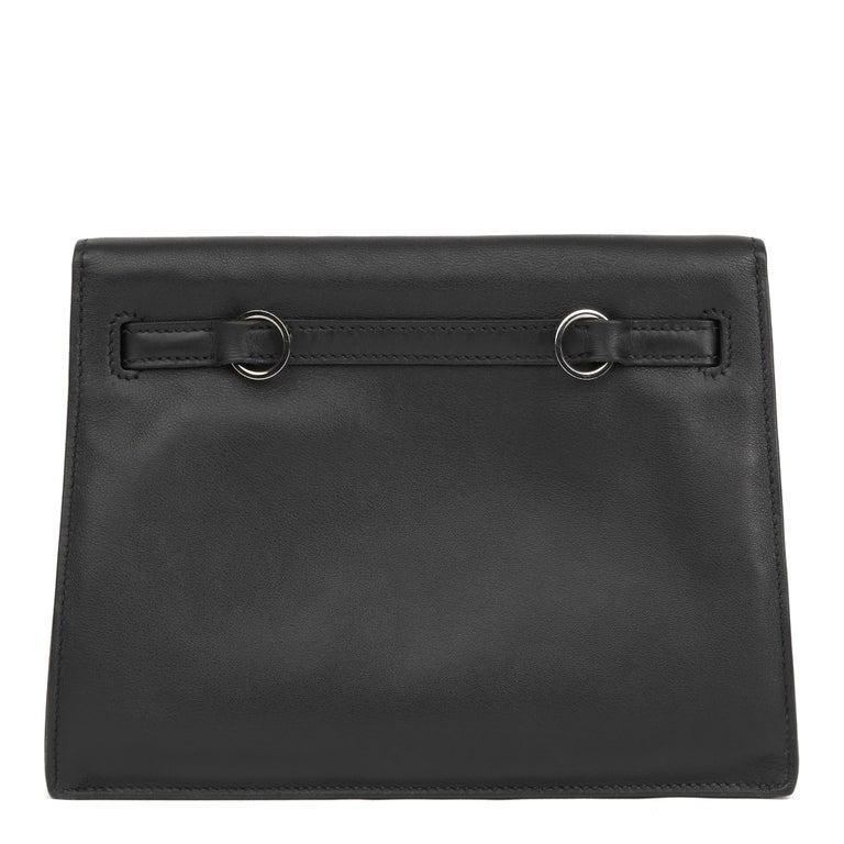 2012 Hermès Black Swift Leather Kelly Danse For Sale 2