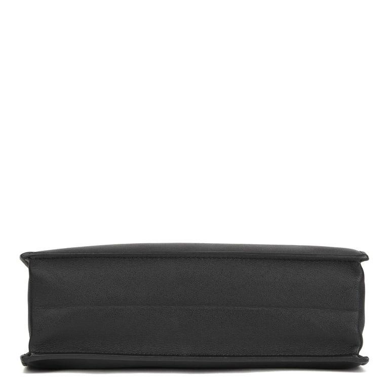 2012 Hermès Black Swift Leather Kelly Danse For Sale 3