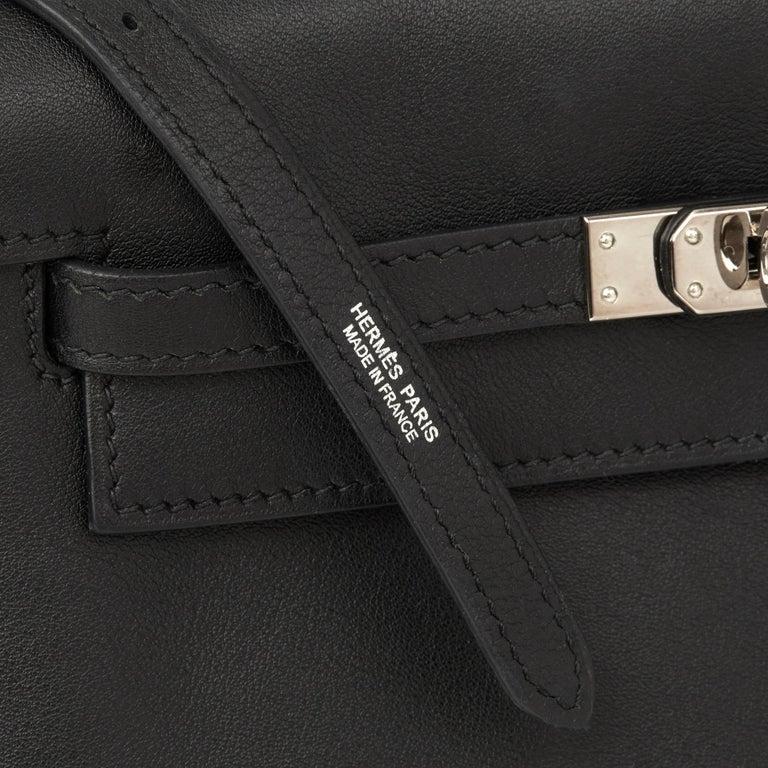 2012 Hermès Black Swift Leather Kelly Danse For Sale 5