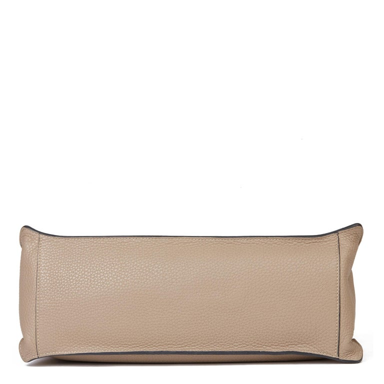 Women's 2012 Hermès Etoupe Clemence Leather Etribelt For Sale