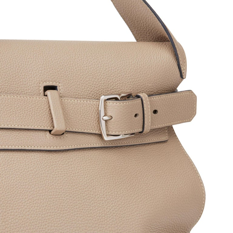 2012 Hermès Etoupe Clemence Leather Etribelt For Sale 1