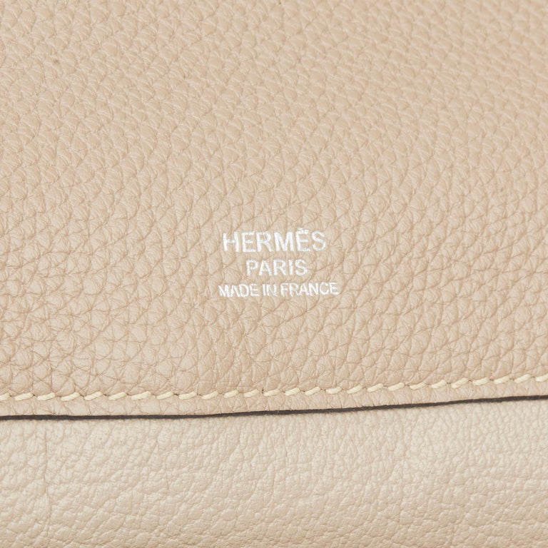 2012 Hermès Etoupe Clemence Leather Etribelt For Sale 3