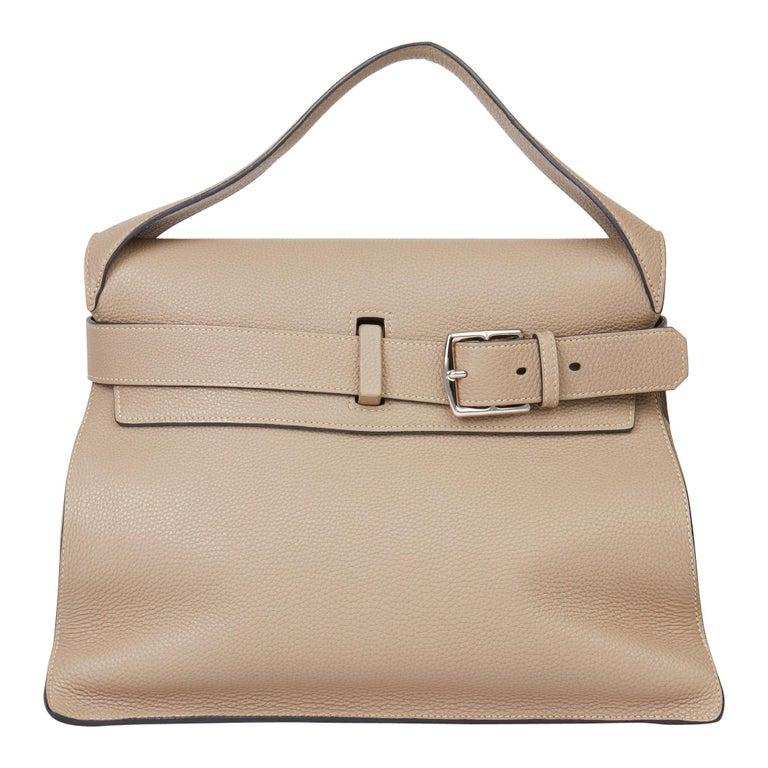 2012 Hermès Etoupe Clemence Leather Etribelt For Sale
