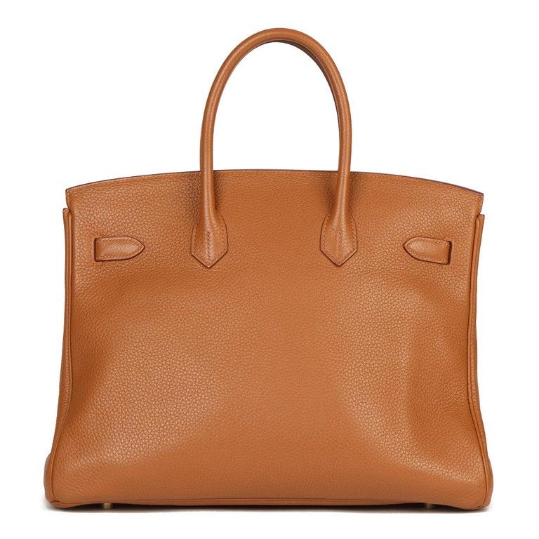 Women's 2012 Hermes Gold, Marron d'Inde Clemence Leather & Lizard Leather Club Birkin 35 For Sale