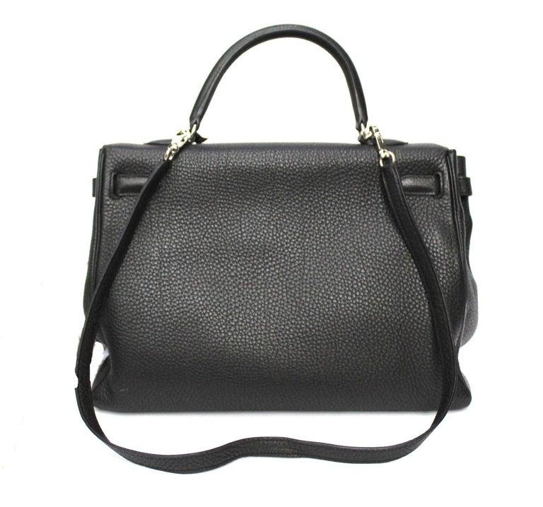 2012 Hermès Noir Leather Kelly Bag For Sale 5