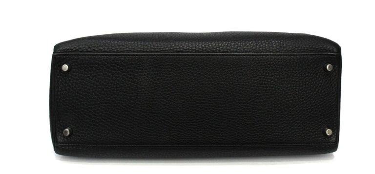 Black 2012 Hermès Noir Leather Kelly Bag For Sale