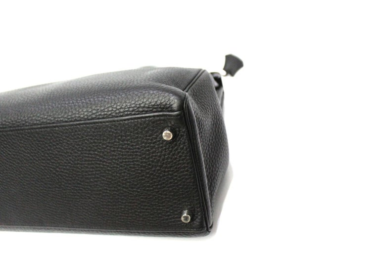 2012 Hermès Noir Leather Kelly Bag In Excellent Condition For Sale In Torre Del Greco, IT