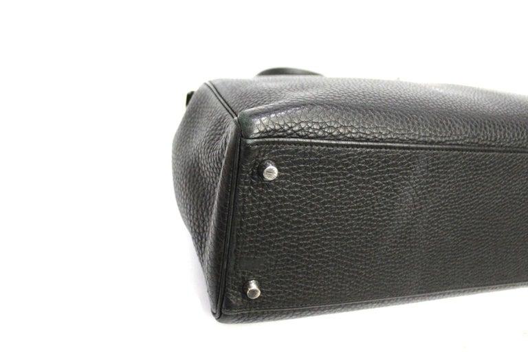 Women's 2012 Hermès Noir Leather Kelly Bag For Sale
