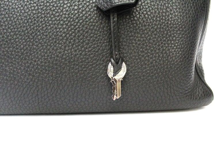 2012 Hermès Noir Leather Kelly Bag For Sale 1