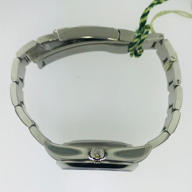 Rolex Watch Stainless Steel  This impressive Air King Rolex is in fantastic condition! With a smooth polish finish the stainless steel Rolex watch looks good with all attired on any day. The original, easy to use, stainless steel, adjustable strap