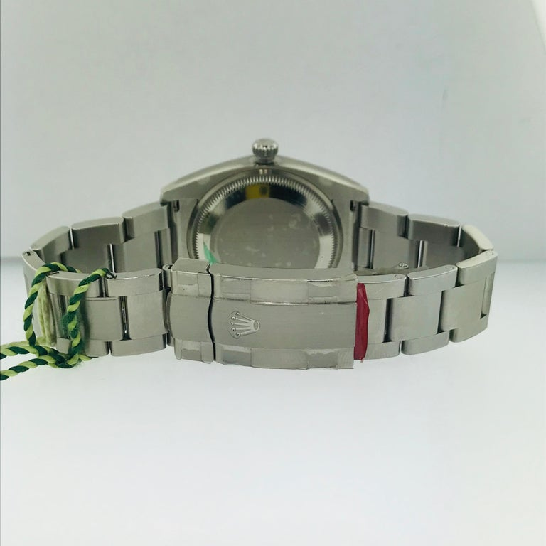 Women's or Men's 2012 Rolex Watch is Stainless Steel For Sale