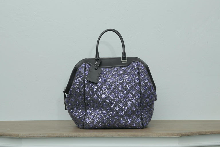 Women's 2012s Louis Vuitton Purple North South Bag Limited Edition Sunshine Express For Sale