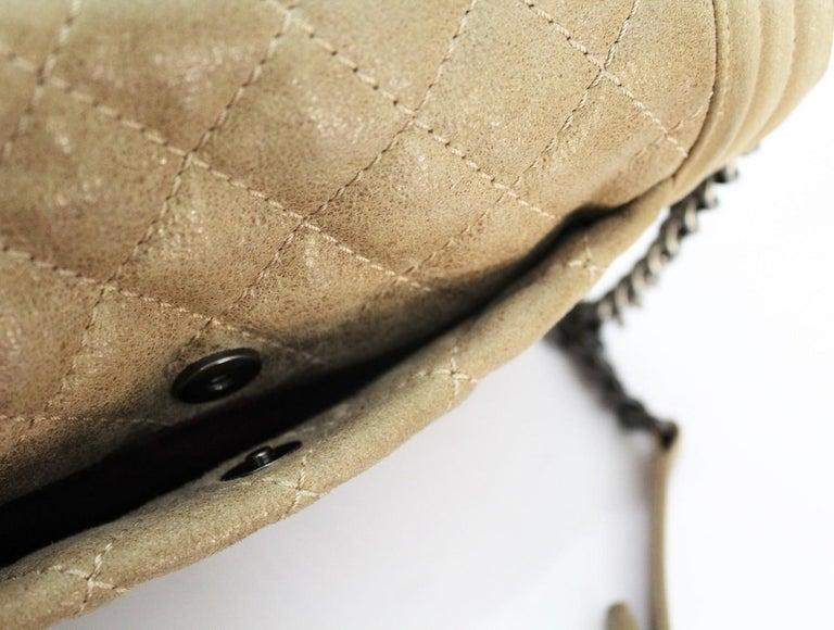 2013-2014 Chanel Beige Suede Large Boy Bag For Sale 1